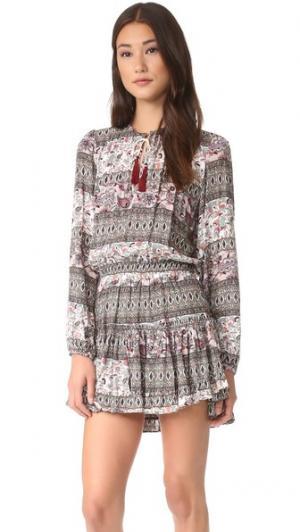 Платье Lorena MISA. Цвет: розовый принт
