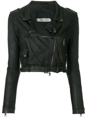 Укороченная байкерская куртка Giorgio Brato. Цвет: чёрный
