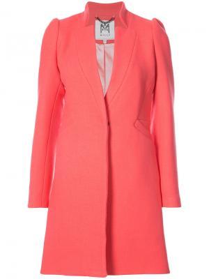 Приталенное пальто Milly. Цвет: розовый и фиолетовый