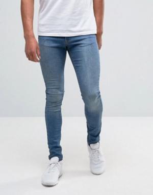 Brooklyn Supply Co. Выбеленные джинсы с напылением Co Hunter. Цвет: синий