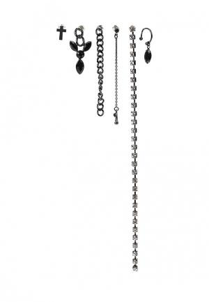 Комплект серег 3 пары Motivi. Цвет: черный
