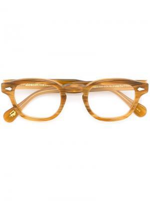 Очки Lemtosh Moscot. Цвет: коричневый