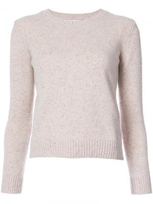 Кашемировый вязаный свитер Rosetta Getty. Цвет: телесный