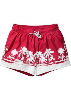 Пляжные шорты Regular Fit (красный) bonprix. Цвет: красный