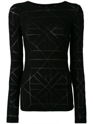 Sheer panel detail sweater Gareth Pugh. Цвет: чёрный