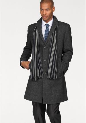 Пальто Class International. Цвет: темно-серый с рисунком