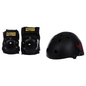 Комплект защиты детский  Helmet And Pad Pack Black Darkstar. Цвет: черный