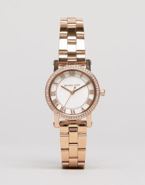 Michael Kors Часы оттенка розового золота Petit Noire MK3558. Цвет: золотой