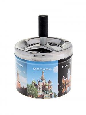 Пепельница бездымная Москва (9*12 см) А М Дизайн. Цвет: черный, лазурный, морская волна, серебристый