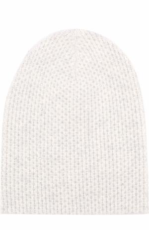 Кашемировая вязаная шапка с отделкой из страз Swarovski William Sharp. Цвет: светло-серый
