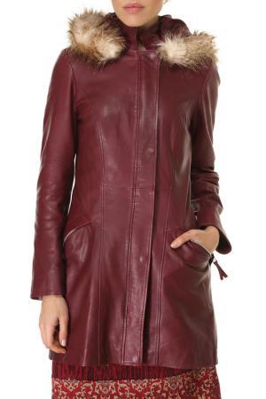 Пальто Isaco & Kawa. Цвет: красный