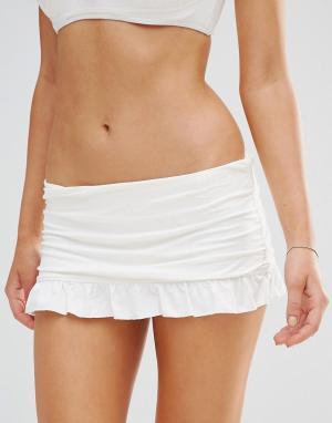 Coco Rave Плавки бикини с оборками. Цвет: белый