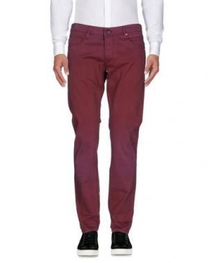 Повседневные брюки OAKS. Цвет: баклажанный