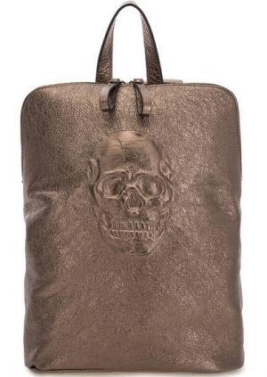 Сумка-рюкзак с одним отделом на молнии Io Pelle. Цвет: золотистый