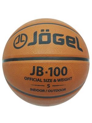 Мяч баскетбольный Jogel JB-100 №5. Цвет: коричневый