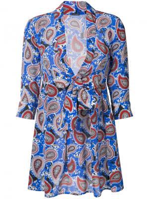 Платье-мини с узором пейсли Dodo Bar Or. Цвет: синий