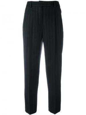 Зауженные брюки в полоску Alberto Biani. Цвет: чёрный