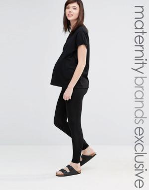 Club Lounge Maternity Леггинсы для беременных L. Цвет: черный