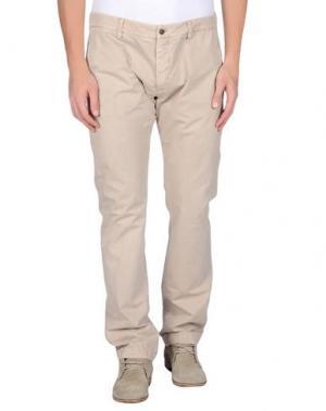 Повседневные брюки GOLD CASE by ROCCO FRAIOLI. Цвет: песочный
