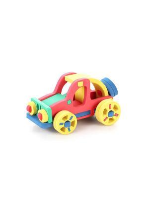 Развивающая игрушка конструктор Автомобиль БОМИК. Цвет: светло-зеленый, красный, фиолетовый