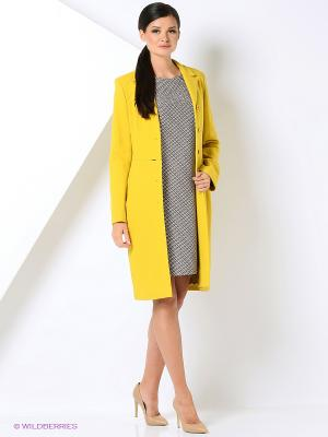 Пальто Gamelia. Цвет: желтый