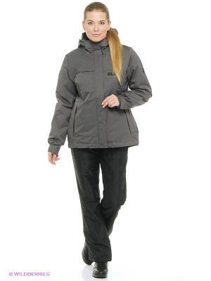 Куртка SOUTH BROOK TEXAPORE JKT W Jack Wolfskin. Цвет: темно-серый