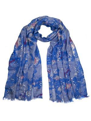 Палантин Zalta. Цвет: голубой, золотистый