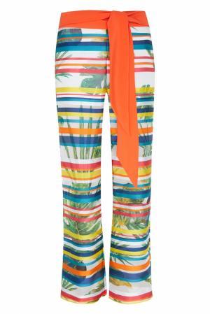 Шелковые брюки Natalia Valevskaya. Цвет: multicolor
