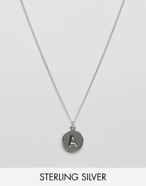 Fashionology Серебряное ожерелье с инициалом A. Цвет: серебряный