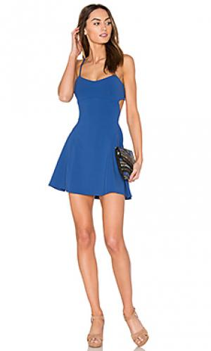 16 платье jane Susana Monaco. Цвет: синий