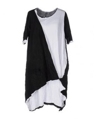 Платье до колена OBLIQUE CREATIONS. Цвет: черный