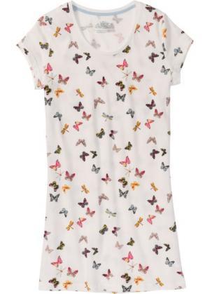 Ночная сорочка (кремовый с рисунком) bonprix. Цвет: кремовый с рисунком