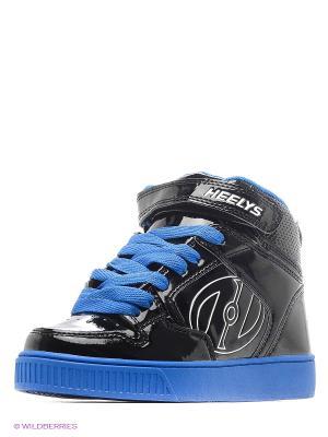 Роликовые кроссовки Heelys. Цвет: черный, синий
