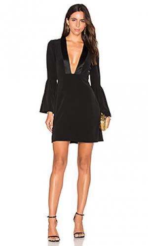 Мини платье с глубоким v-образным вырезом JILL STUART. Цвет: черный