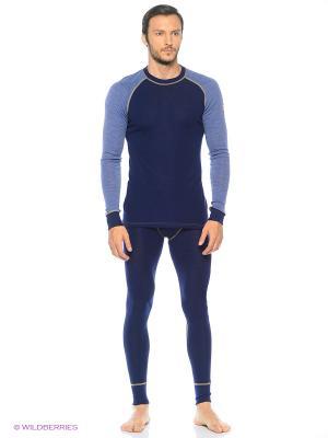 Кальсоны Design wool (термобельё) Janus. Цвет: синий
