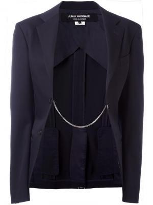 Пиджак с цепочной отделкой Junya Watanabe Comme Des Garçons Vintage. Цвет: синий
