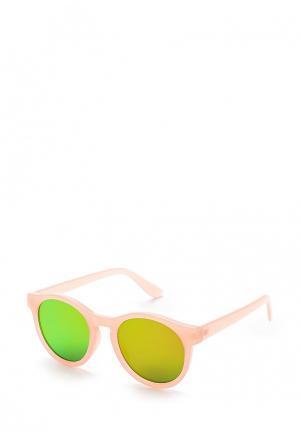 Очки солнцезащитные Pieces. Цвет: розовый