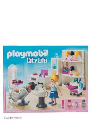 Салон красоты Playmobil. Цвет: голубой, сиреневый, белый