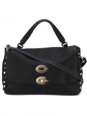 Маленькая сумка-сэтчел Postina Zanellato. Цвет: синий