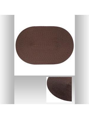 Салфетка под тарелку овальная, ПВХ 29,5х44,5 см JJA. Цвет: коричневый