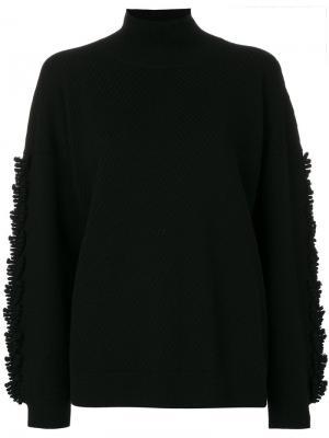Свободный свитер в рубчик Barrie. Цвет: чёрный