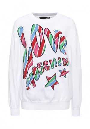 Джемпер Love Moschino. Цвет: белый