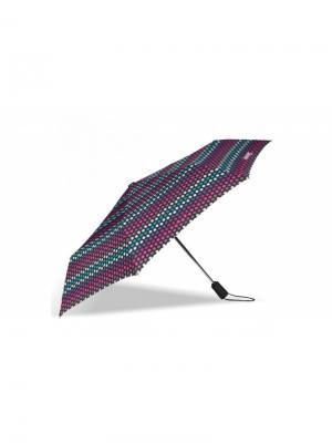 Зонт Isotoner. Цвет: бирюзовый, салатовый, фиолетовый, розовый