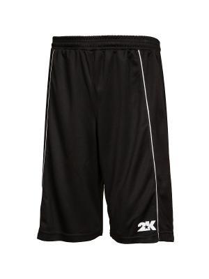 Баскетбольные игровые шорты Classic 2K. Цвет: черный, белый