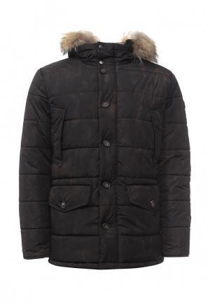 Куртка утепленная Eden Park. Цвет: черный