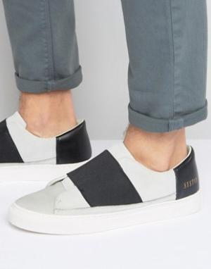 Systvm Белые кроссовки-слипоны с эластичными вставками. Цвет: белый