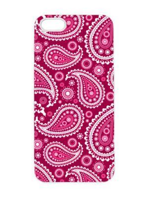 Чехол для iPhone 5/5s Малиновый пейсли Арт. IP5-099 Chocopony. Цвет: малиновый