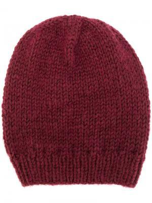 Трикотажная шапка Lala Berlin. Цвет: красный