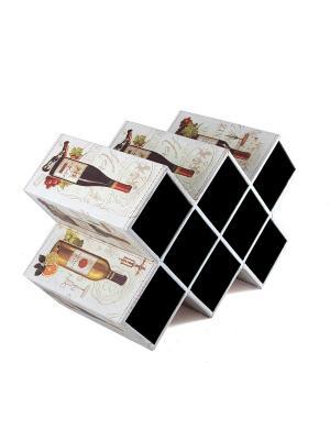 Подставка для хранения бутылок Русские подарки. Цвет: черный,бежевый