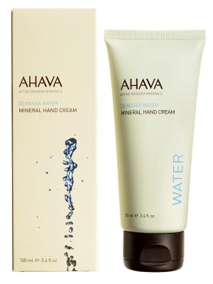 Крем для рук минеральный AHAVA. Цвет: кремовый